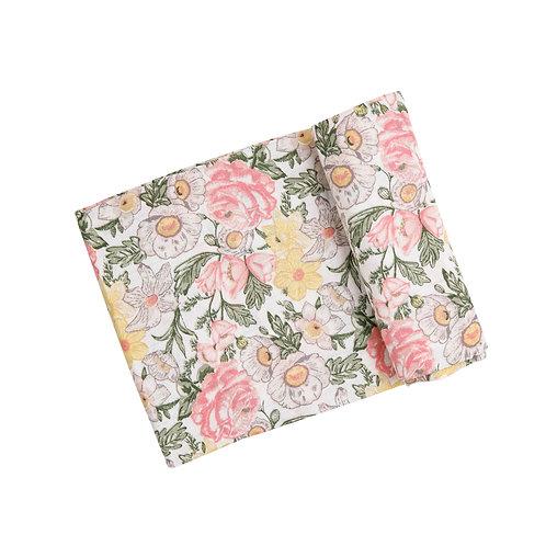 Angel Dear Traditional Floral Swaddle Blanket Multi