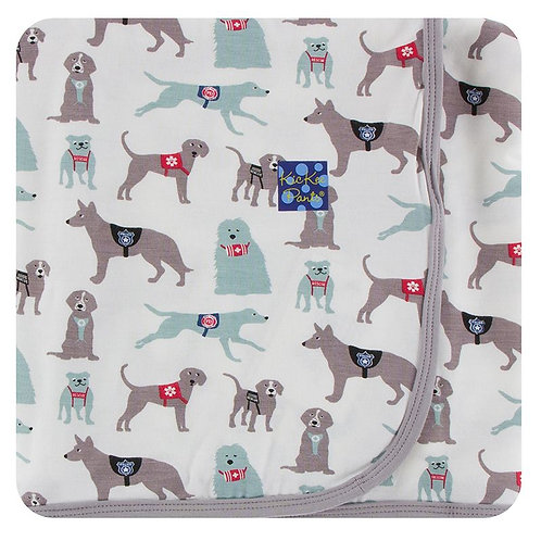 Print Swaddling Blanket Natural Canine First Responders