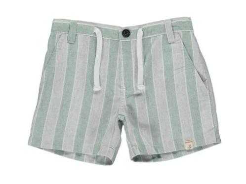 Me & Henry Green/Grey Stripe Shorts