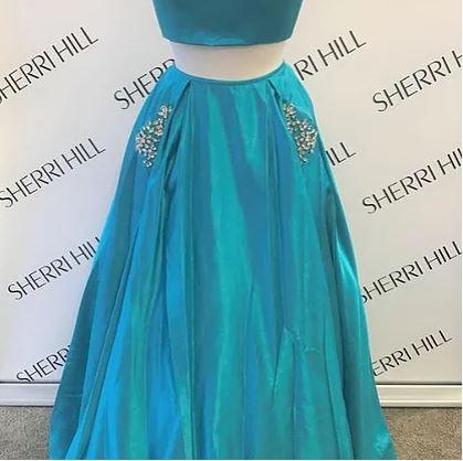 Sherri Hill 51649 Turquoise