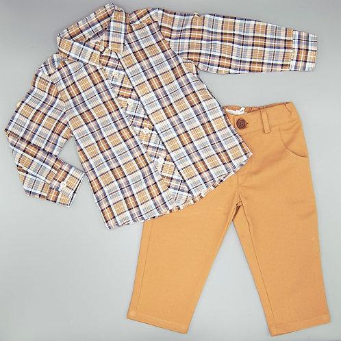 Evie's Closet Boys Harvest Plaid Shirt