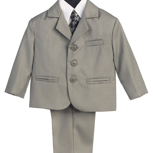 Lito Childrens Wear Boys 5 Piece Suit Light Grey