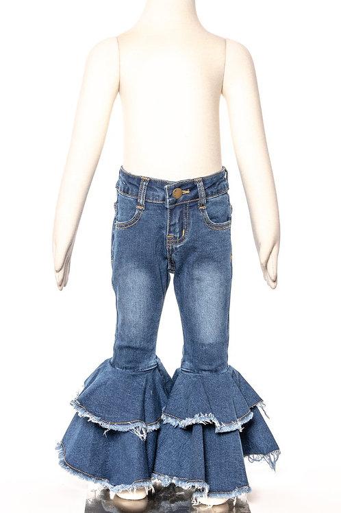 M.L. Kids Bell Bottom Jeans Medium Wash