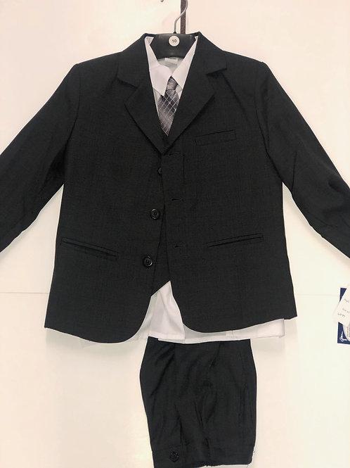 Lito Childrens Wear Boys 5 Piece Suit Dark Grey