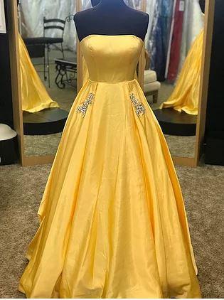 Sherri Hill 50812 Yellow