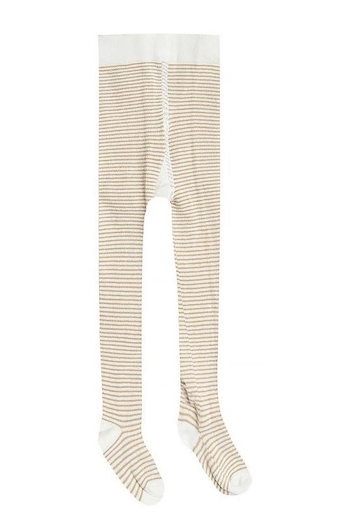 Rylee and Cru Honey and Ivory Striped Tights