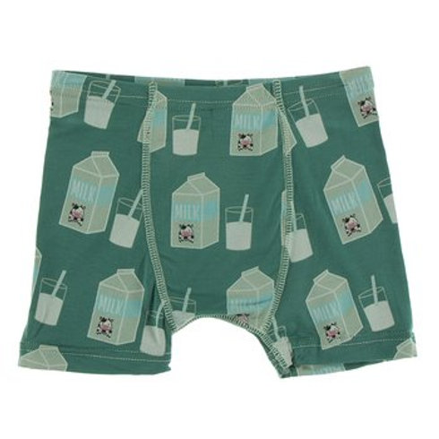 Kickee Pants Print Single Boxer Brief Ivy Milk