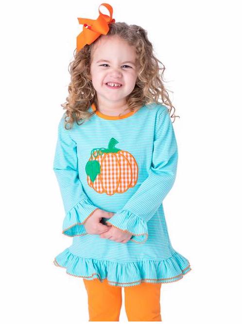 BeMine Pumpkin Applique Girl's Dress Pants Set