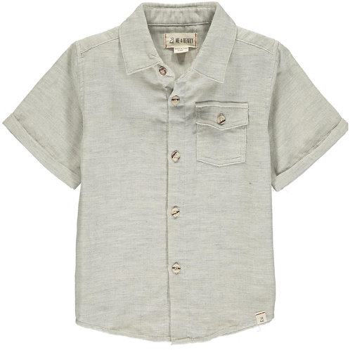 Me & Henry Newport Short Sleeve Shirt Pale Grey