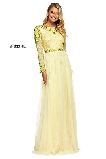 Sherri Hill 53485 Yellow/Green