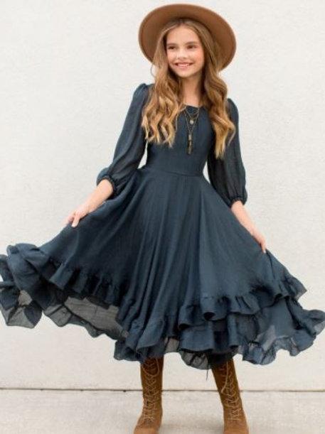 Joyfolie Raelynne Navy Dress