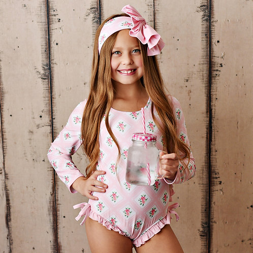 Swoon Baby Sugar Blossom One Piece Rashguard Swimmy
