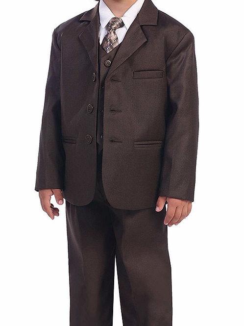 Lito Childrens Wear 5 Piece Suit Brown