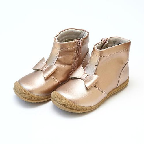 L'Amour Hilary Bow Boot Rose Gold