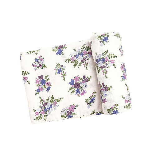 Angel Dear Lily of the Valley Swaddle Blanket Purple