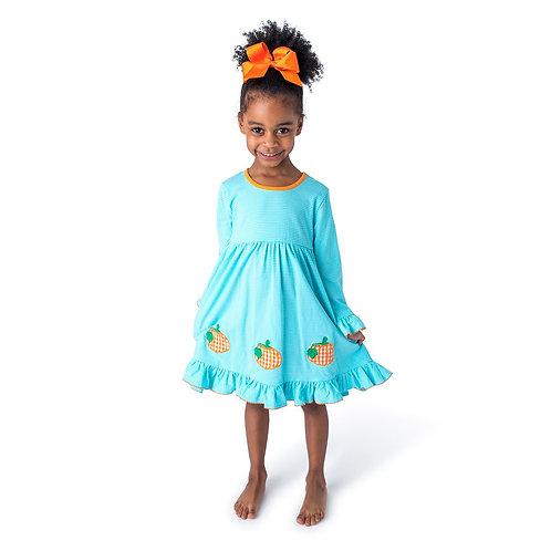Be Mine Pumpkin Applique Girl's Dress