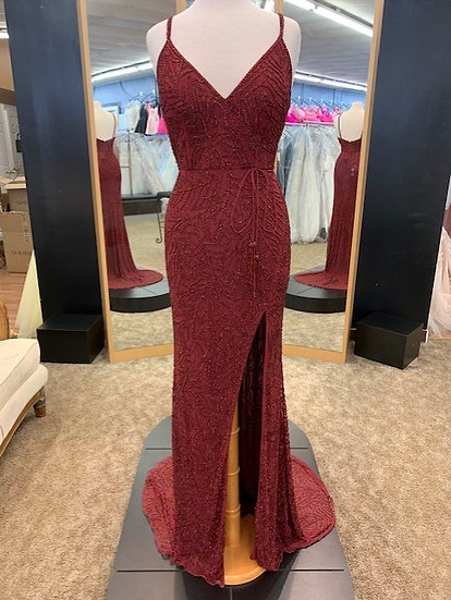 Sherri Hill 53162 Burgundy