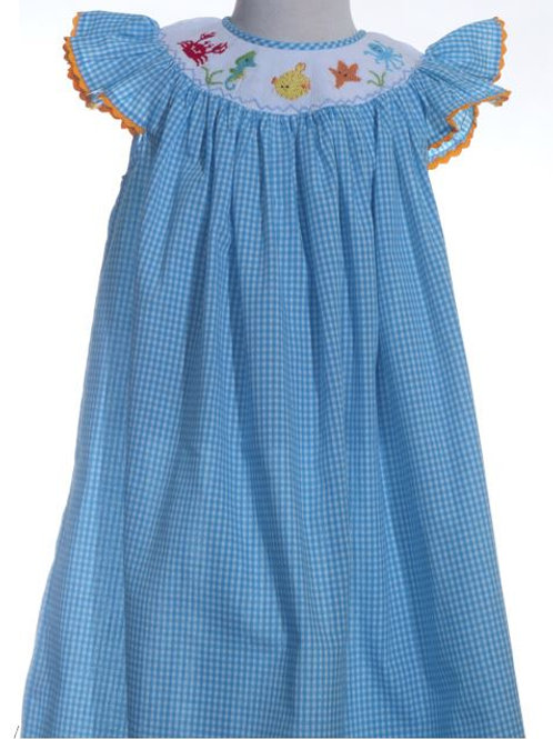 Mom and Me Under the Sea Smocked Dress