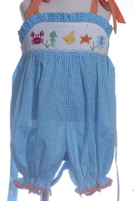 Mom and Me Under the Sea Smocked Romper