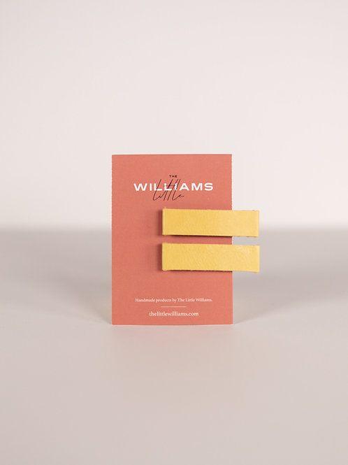 The Little Williams Hensley Yellow Leather Clip