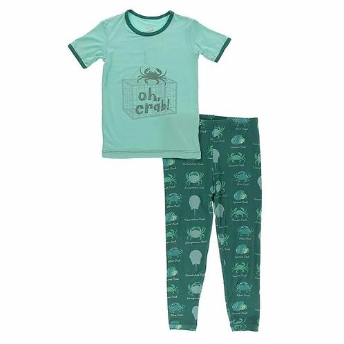 Graphic Tee Pajama Set Cedar Crab Types