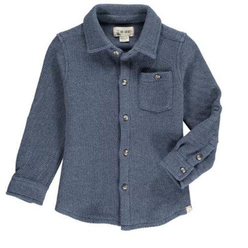 Me & Henry Navy Stretch Jersey Shirt