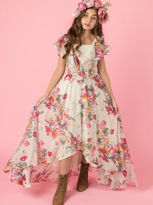 Joyfolie Abby Dress Cream Floral