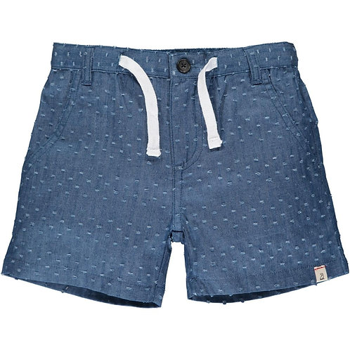 Me & Henry Crew Gauze Shorts Textured Chambray
