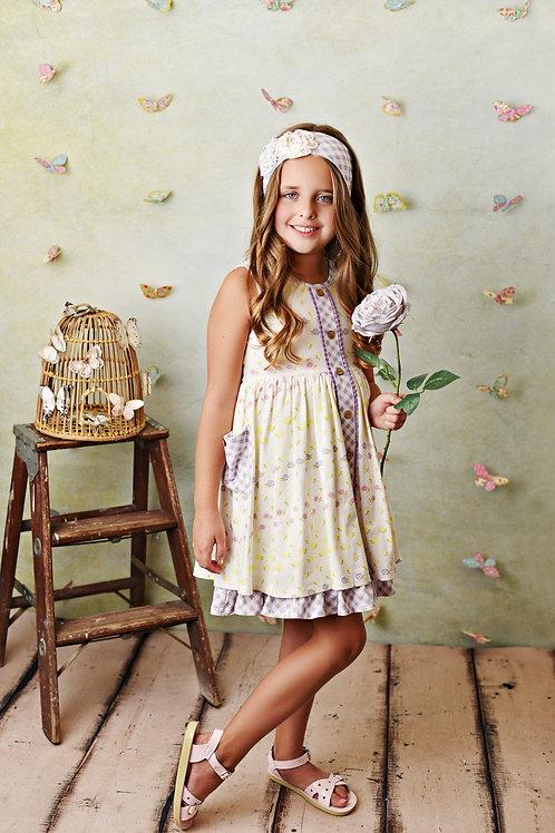 Serendipity Lemon Bloom Dress with Shortie