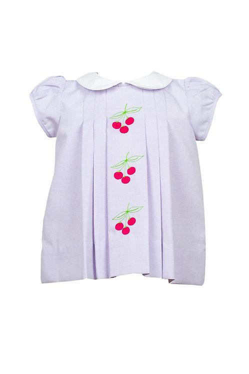 The Proper Peony Lavender Pique Cherry Dress