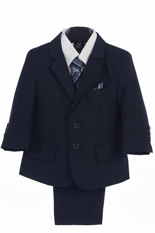 Little Gents 5 Piece Suit Navy