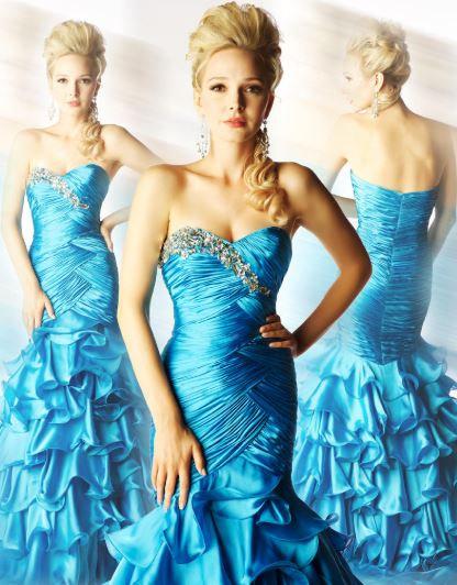 Mac Duggal 4911H Turquoise