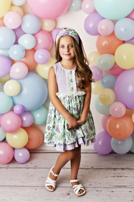 Swoon Baby Dress w/ Shortie Lavender Mint Fields