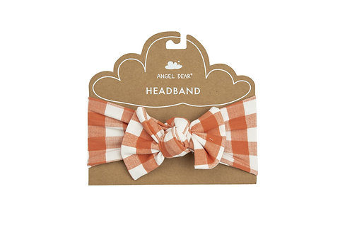 Angel Dear Gingham Pumpkin Headband