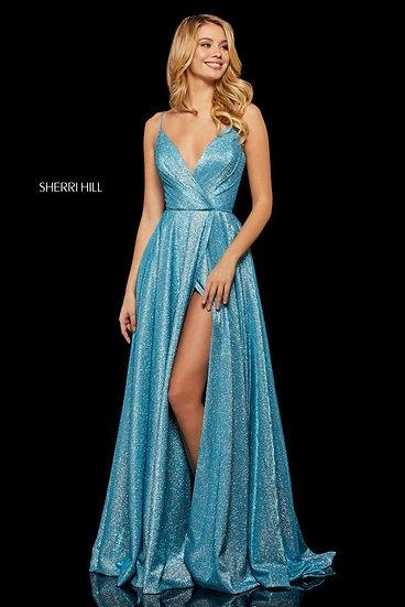 Sherri Hill 52977 Turq/Silver