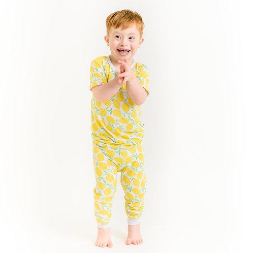 Little Sleepies Lemons Short Sleeve Pajama Set