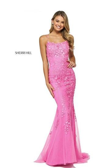 Sherri Hill 52338 Bright Pink