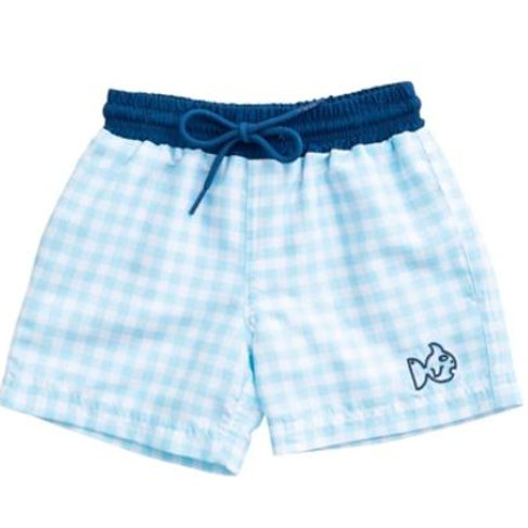 Prodoh Gingham Swim Trunks