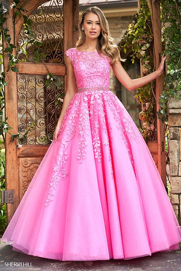 Sherri Hill 53356 Bright Pink