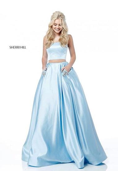 Sherri Hill 51649 Light Blue