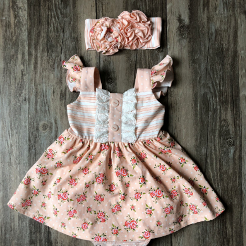 Swoon Baby Skirted Bubble Peachy Sorbet