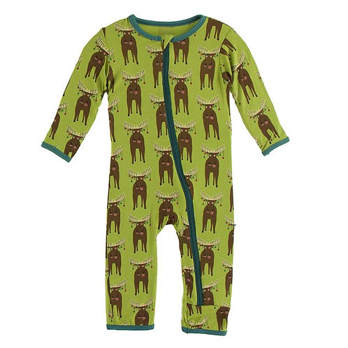 Print Coverall with Zipper Meadow Bad Moose