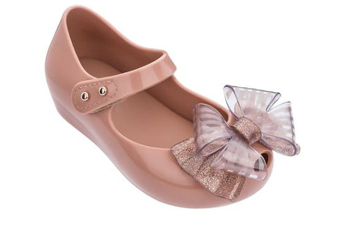 Mini Melissa Ultragirl Sweet V Pink Glitter