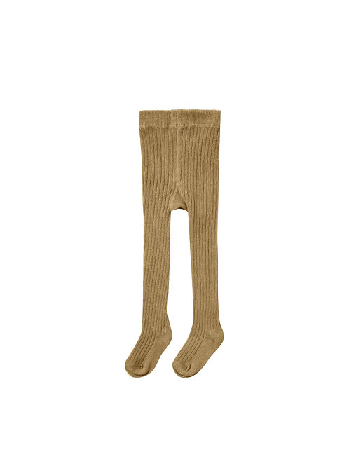 Rylee + Cru Rib Knit Tights Goldenrod