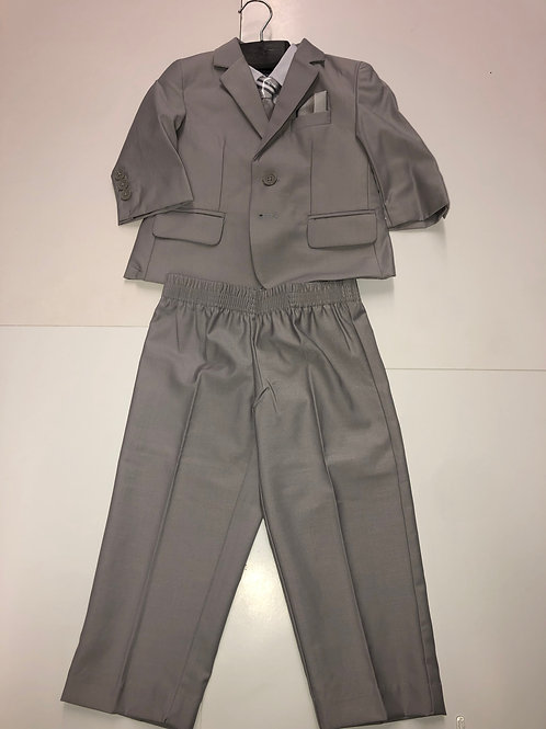 Little Gents 5 Piece Suit Light Gray