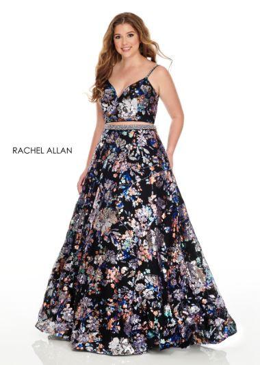 Rachel Allan 7227 Black Multi
