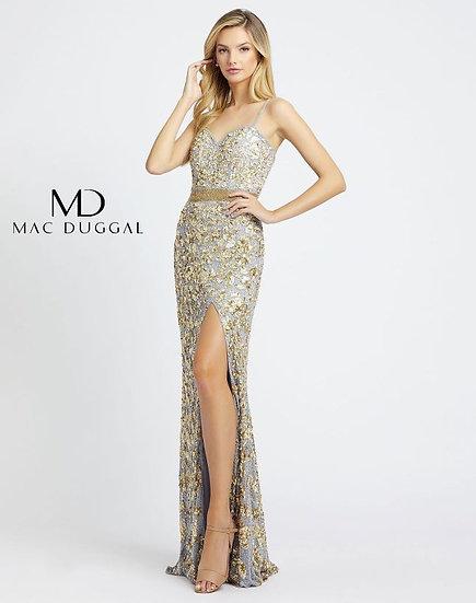 Mac Duggal 4691 Platinum/Gold