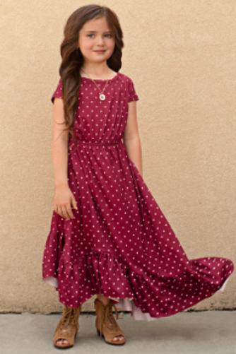 Joyfolie Liza Dress In Rust Dots