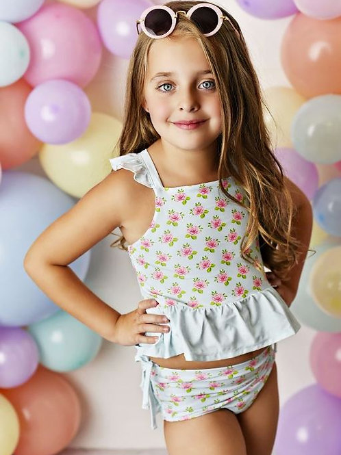 Swoon Baby Watercolor Rose Tunic 2 Piece Swimmy