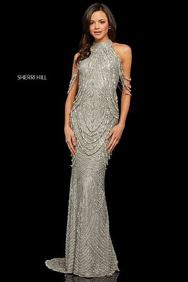 Sherri Hill 52949 Silver